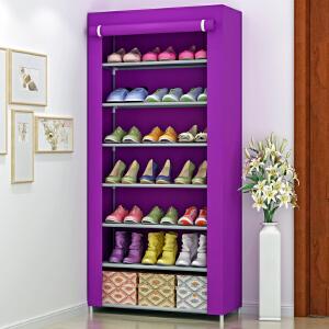 索尔诺 时尚防尘防潮7层鞋柜 储物柜 层架 加厚淋膜无纺布鞋橱 鞋架07C