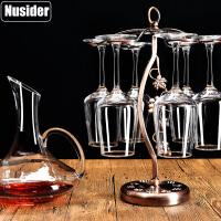 玻璃高脚葡萄酒杯6只水晶酒具杯架家用红酒杯套装