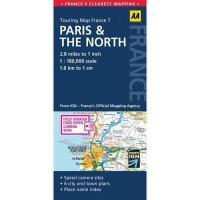 【预订】Touring Map France 7: Paris & the North