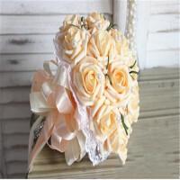 手捧花新娘手捧花束仿真玫瑰婚礼拍摄道具结婚婚庆用花礼品