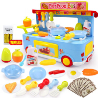 儿童过家家小孩厨房玩具套装组合宝宝做饭女孩煮饭仿真餐具快餐车