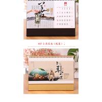 月历 2019年台历定做定制猪年养生14张高架子办公时尚韩国历 红色可爱猪年记事台历 19年日历订做