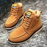 【包邮】2016冬季新品马丁靴男保暖加绒靴子男士高帮棉靴英伦时尚工装靴男鞋MA83JQSL