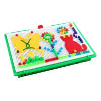 蘑菇钉组合拼插板儿童拼图益智玩具3-6周岁蘑菇丁男女孩
