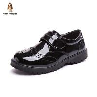 暇步士童鞋黑皮鞋17年英伦风演出鞋中大童韩版学生童鞋单鞋潮 DP9082