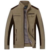 秋季中年男装外套棉薄款长袖爸爸春秋装40岁50中老年人夹克衫60