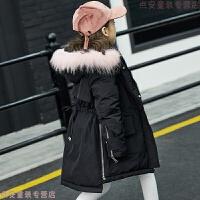 儿童羽绒服女童中长款加厚2018新款韩版中大童装宝宝冬装公主外套