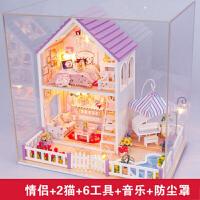diy 小屋手工制作拼装建筑大型房子模型玩具生日礼物男女朋友