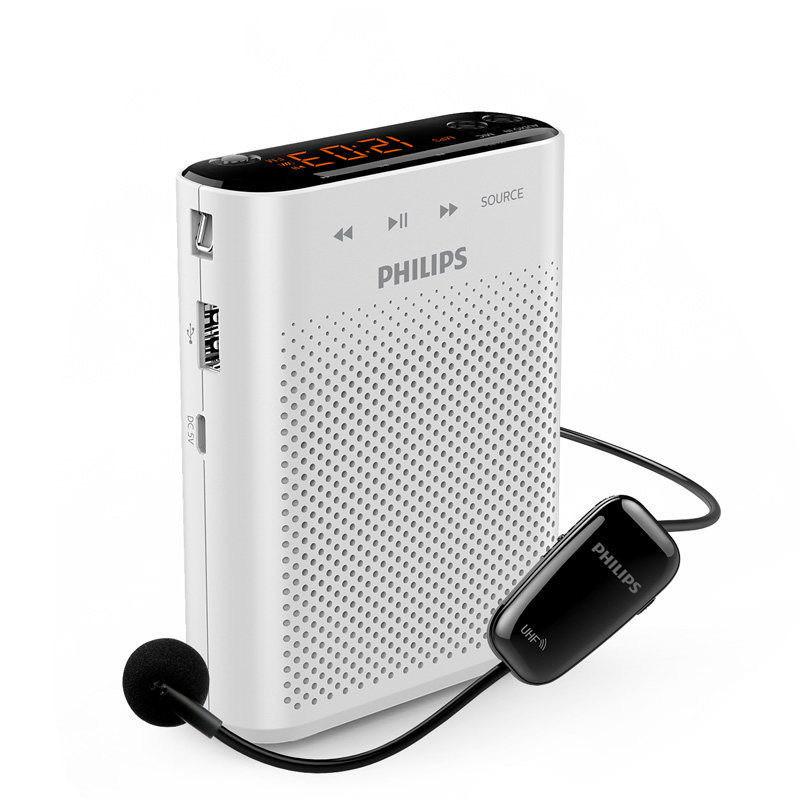 Philips/飞利浦 SBM230小扩音器教师 用UHF无线话筒导游耳麦蜜蜂讲课 家电自营