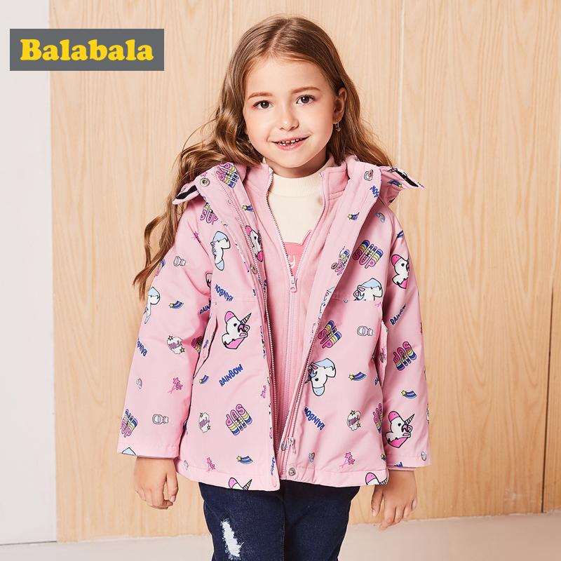 巴拉巴拉童装宝宝棉衣女童棉袄儿童秋冬新款加绒加厚保暖外套