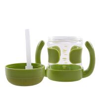 婴儿童训练杯喝水杯 带手柄吸管杯便携学饮杯宝宝