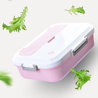 饭盒微波炉学生野炊/烧烤便当盒日式分格带盖食堂塑料简约成人餐盒