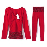女士冬季紧身保暖内衣套装塑身修身美体秋衣秋裤打底棉毛衫