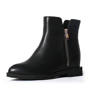 Teenmix/天美意专柜同款牛皮女中靴6A263DZ6