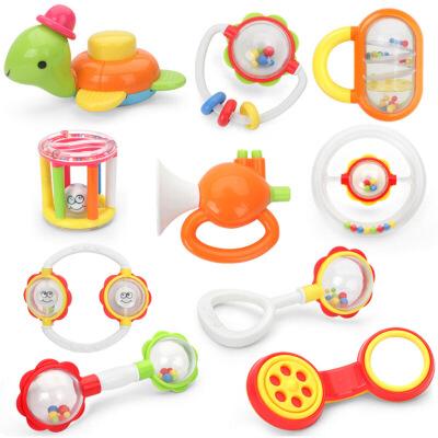 大奶瓶手摇铃 牙胶摇铃组合 婴儿玩具 新生儿宝宝玩具0-1岁