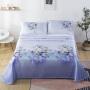 伊迪梦家纺 可水洗凉席床单式三件套冰丝席 床裙时尚印花提花优质再生植物纤维1.5/1.8/2m米床sm401