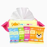 [当当自营]温莎婴儿口手湿巾80片*1包+10片*5包