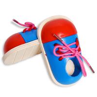 穿线小鞋子 教宝宝系鞋带幼儿早教益智木制玩具2-3-6岁