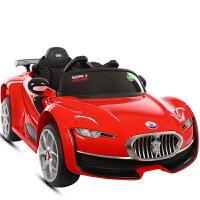 儿童电动车四轮小孩汽车带遥控宝宝玩具车可坐人1-3-5岁充电瓶车 红色 一键安装 双电双驱带摇摆