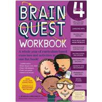 【现货】英文原版Brain Quest Grade 4 Workbook 儿童智力开发系列 4年级练习册