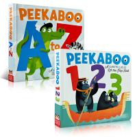 儿童英文原版绘本 Peekaboo A to Z Peekaboo 123 幼儿启蒙认知数字 字母表 英文字母学习 大