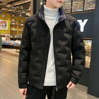 羽绒服冬季潮流男立领外套2019新款大码冬装加绒保暖大衣