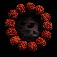 手串五六瓣红皮肉纹尼泊尔大小金刚菩提子佛珠男女士手链
