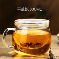 玻璃杯茶杯带把喝茶杯透明泡茶过滤花茶杯带盖办公室喝水杯子女式