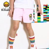 【4折价:107.6】B.duck小黄鸭童装女童短裤夏装新款宝宝洋气裤子潮牌宽松外穿BF2051901