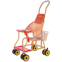 轻便简易婴儿手推车仿竹藤车透气儿童推车