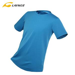 雷诺斯户外速干T恤夏季男女透气短袖运动服情侣跑步服健身快干衣