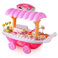 儿童玩具女孩过家家4-5-6岁宝宝音乐灯光冰淇淋糖果船玩具套餐