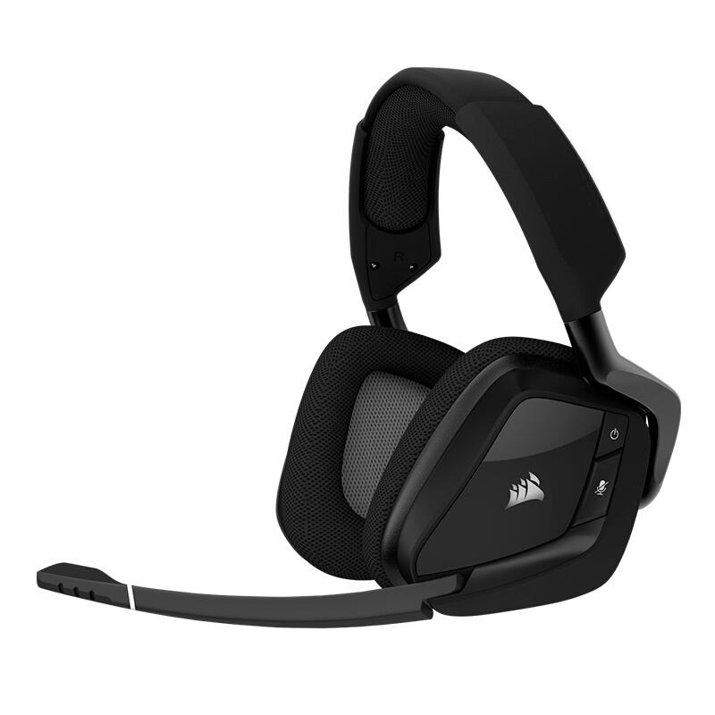美商海盗船VOID RGB PRO杜比7.1声道有线无线竞技吃鸡游戏耳机麦佩戴舒适 7.1声道 带灯 两年质保