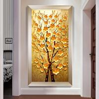 十字绣线绣客厅玄关简约现财树3D印花简单绣