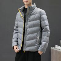 棉服男冬季保暖外套2019新款男学生时尚男大码宽松帅气立领棉衣