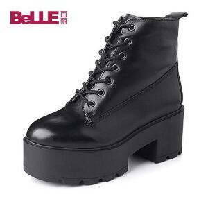 Belle/百丽专柜同款牛皮女靴3T644DD5