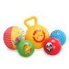 美国费雪训练球套装婴儿宝宝手抓球皮球健身捏捏叫婴儿玩具礼盒