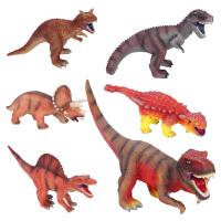 暴龙霸王龙棘背龙三角龙牛龙美甲龙儿童礼物软胶塘胶恐龙玩具模型