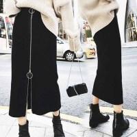 春装韩版中长半身裙200斤胖MM加肥加大码高腰弹力修身包臀长裙