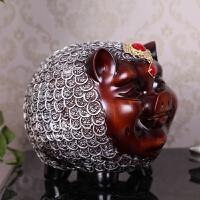 欧式树脂猪存钱罐储蓄罐创意家居实用装饰品摆件生日礼品摆设