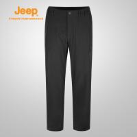 【特惠价】Jeep/吉普 男士休闲运动加厚加绒保暖登山软壳裤J732096001