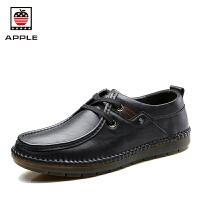 Apple男士皮鞋英伦商务休闲鞋男鞋子秋季软底防滑潮鞋 AP1609