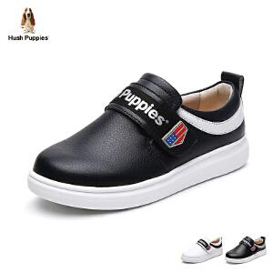 暇步士童鞋2017年新款休闲鞋男童女童板鞋中大童魔术贴学生鞋 DP9044