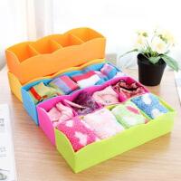 糖果色四格多功能抽屉整理盒桌面收纳盒内衣袜子收纳盒杂物收纳盒 颜色随机