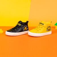 【大促价:99】B.Duck 小黄鸭童鞋男童帆布鞋 儿童棉鞋 加绒板鞋B5087953