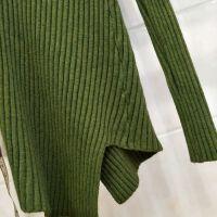 冬季女装新款半高领不规则针织衫韩版修身毛衣女士上衣纯色打底衫