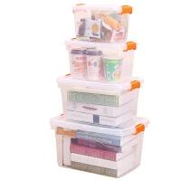储物箱透明收纳盒收纳箱塑料整理箱手提式零食衣服大小号玩具箱子
