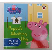 英文原版 Peppa Pig: Peppa's Washing Day 纸板书 粉红猪小妹