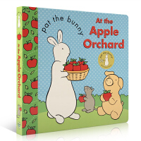 英文原版绘本 Pat the Bunny: At the Apple Orchard 帕特兔:在苹果园 Golden Books 0-3-6岁幼儿启蒙认知图画故事书