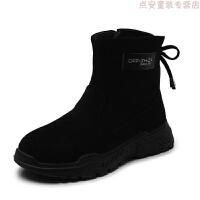 女童运动鞋儿童鞋子男2018新款冬季女童鞋加绒棉鞋小孩波鞋跑步鞋